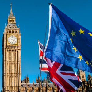 Britain Leaving the Eu - Brexit - EU & UK Flags