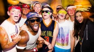Fresher Students Partying